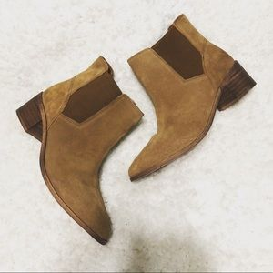 ASOS leather suede pointed booties